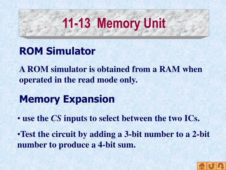 11-13  Memory Unit