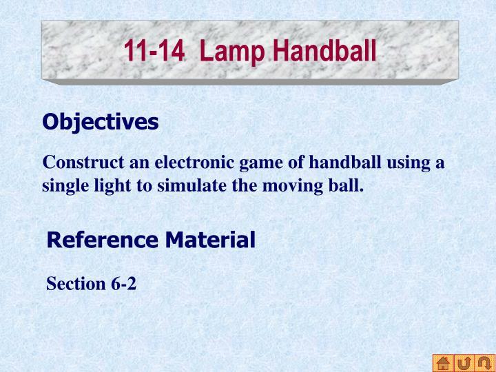 11-14  Lamp Handball