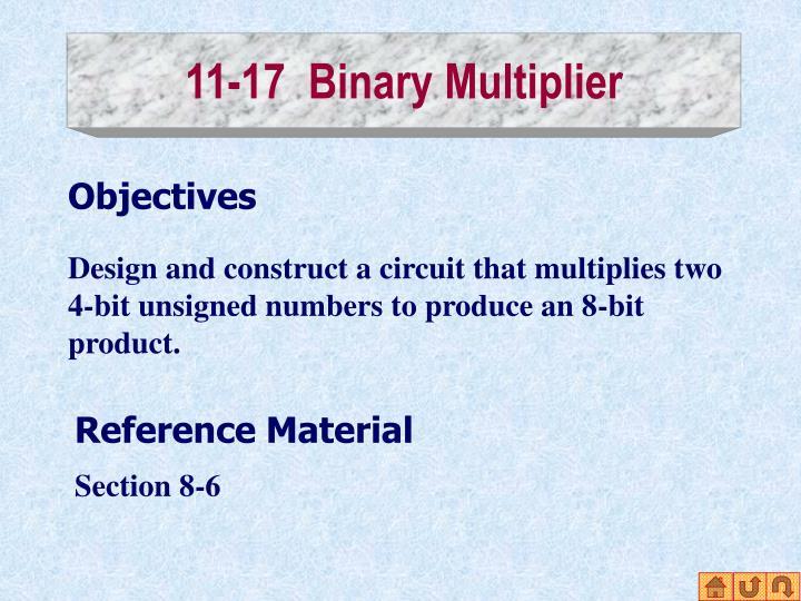 11-17  Binary Multiplier