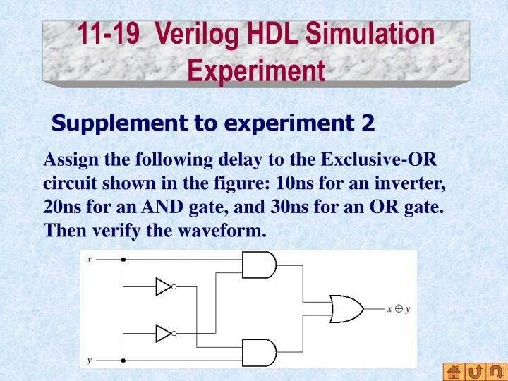 11-19  Verilog HDL Simulation Experiment