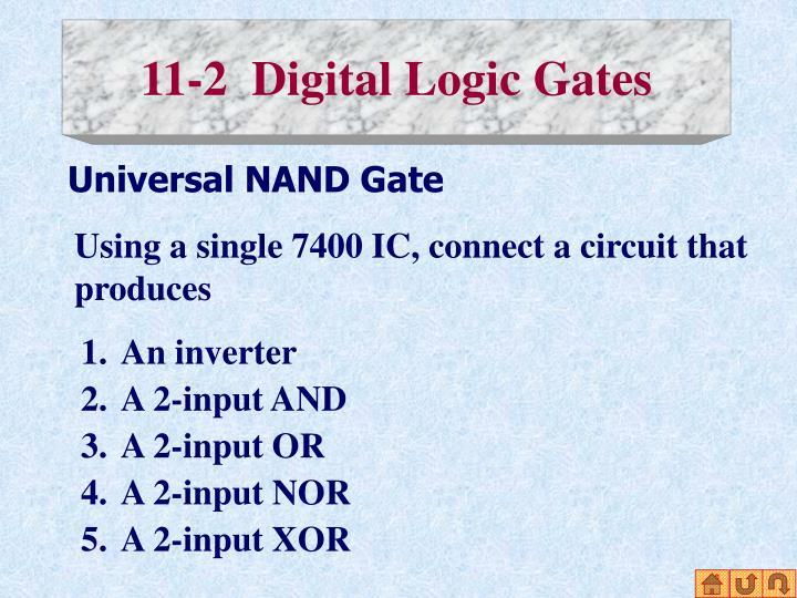11-2  Digital Logic Gates