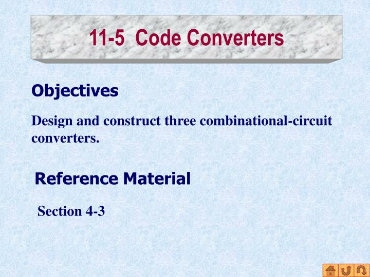 11-5  Code Converters