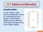 11 7 adders and subtractors2