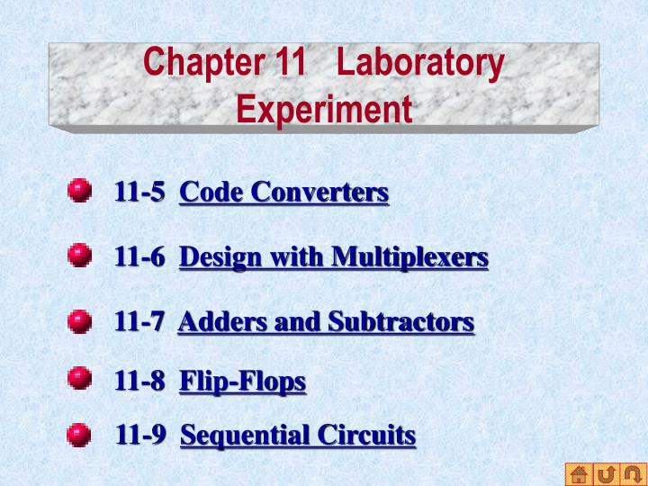Chapter 11 laboratory experiment1