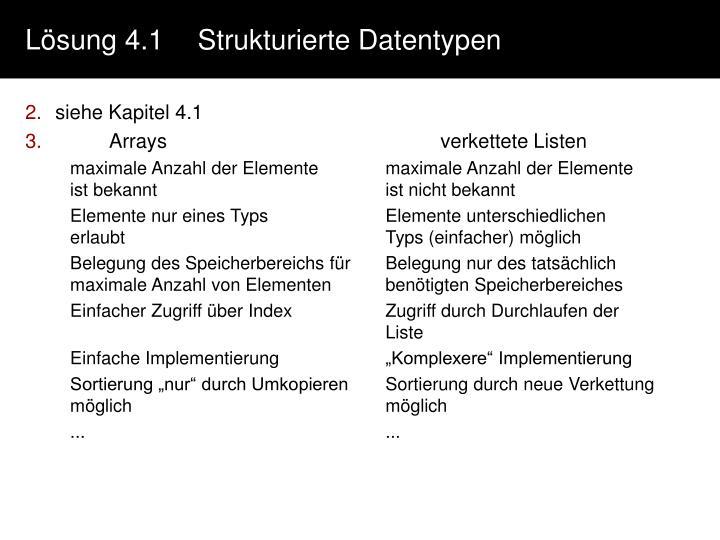 Lösung 4.1Strukturierte Datentypen