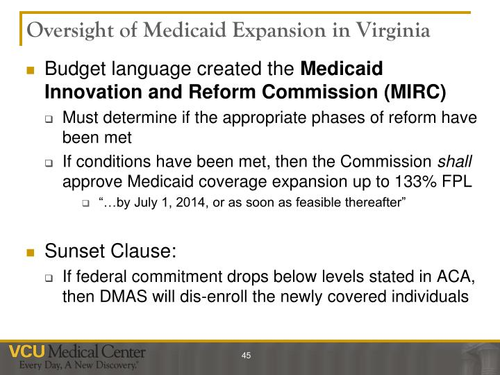 Oversight of Medicaid Expansion in Virginia
