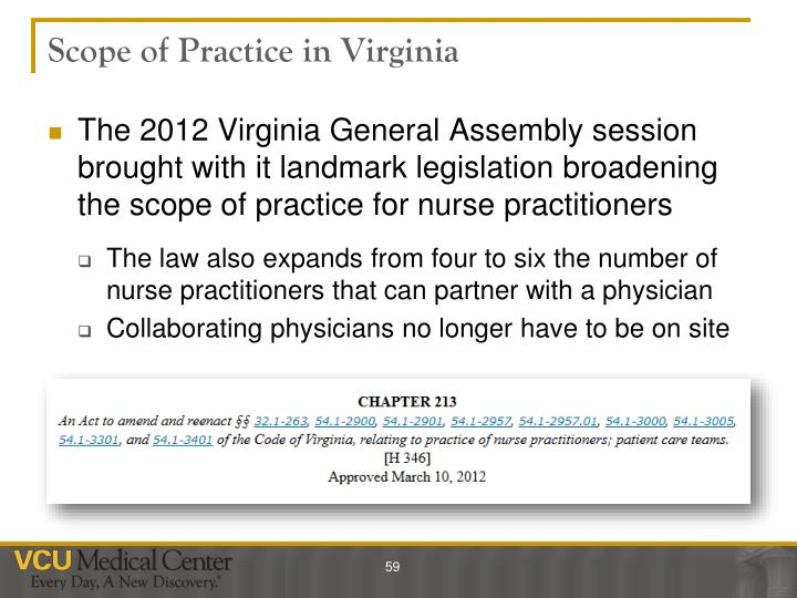 Scope of Practice in Virginia