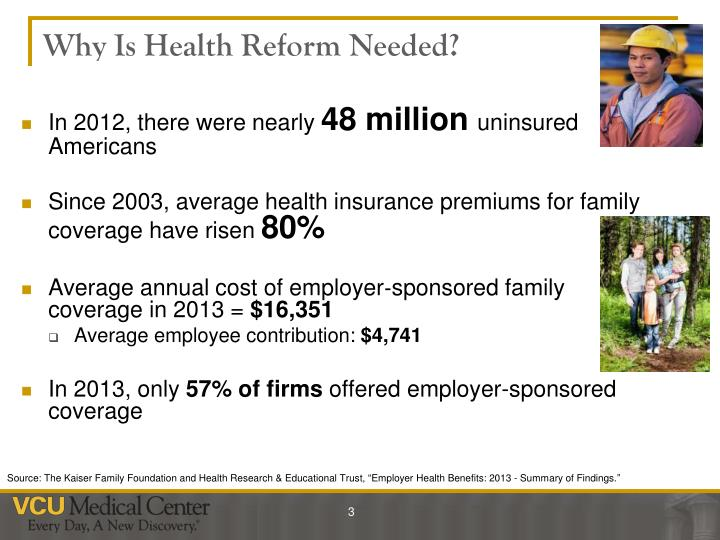 Why is health reform needed