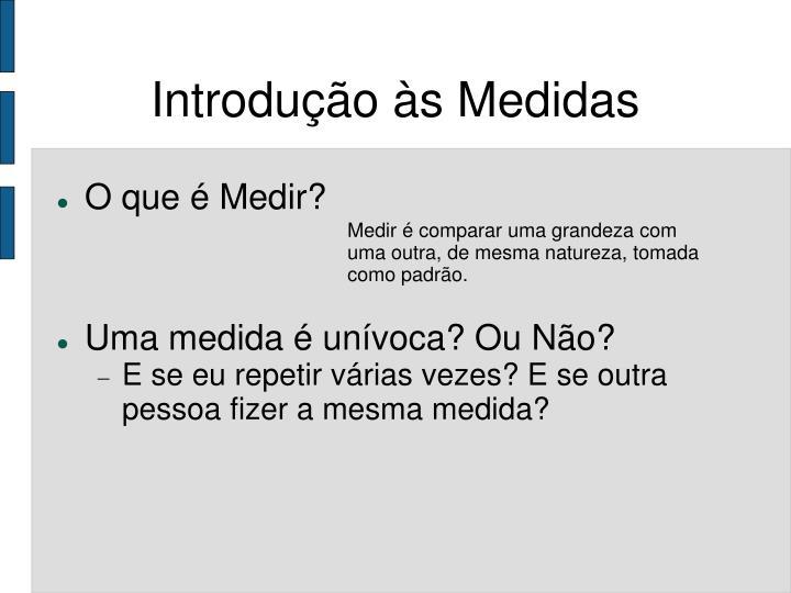 Introdução às Medidas