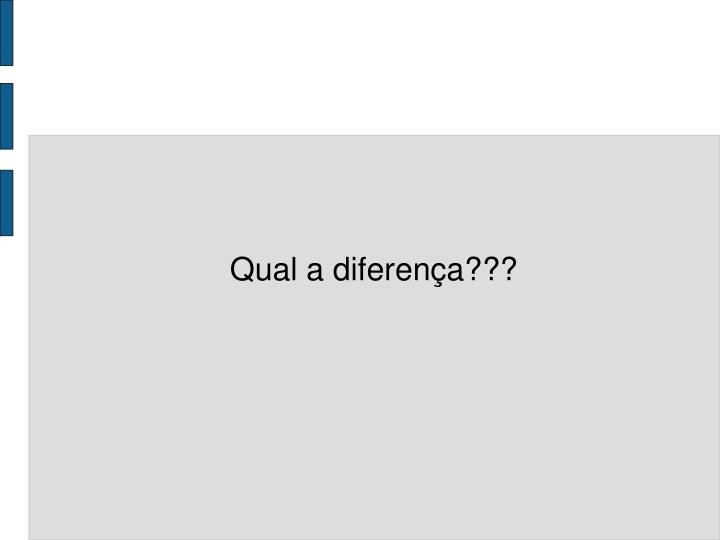 Qual a diferença???