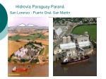 hidrov a paraguay paran san lorenzo puerto gral san mart n