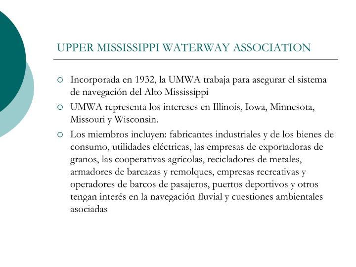 UPPER MISSISSIPPI WATERWAY ASSOCIATION