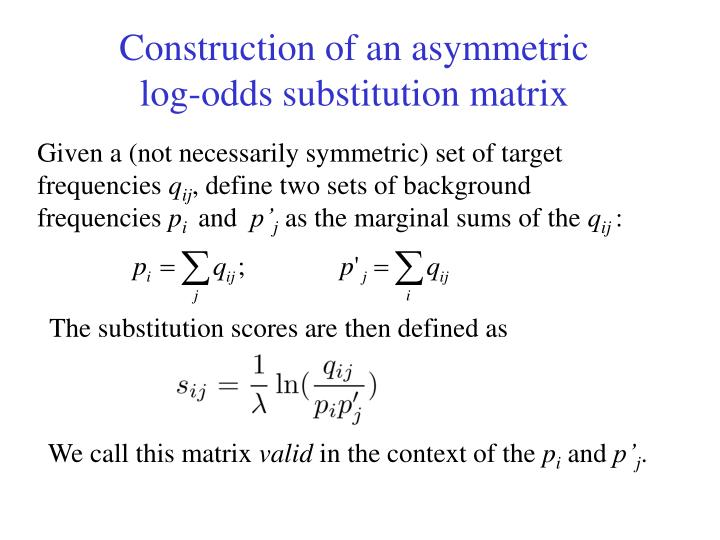 Construction of an asymmetric