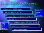 seven steps to success