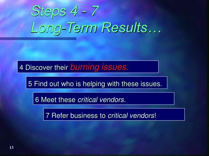 Steps 4 - 7