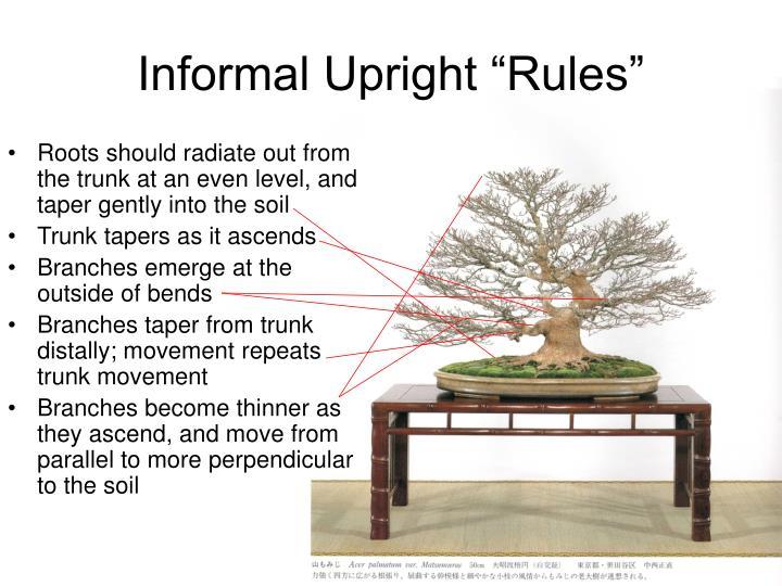 "Informal Upright ""Rules"""