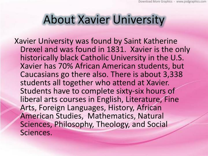 About xavier university