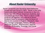 about xavier university