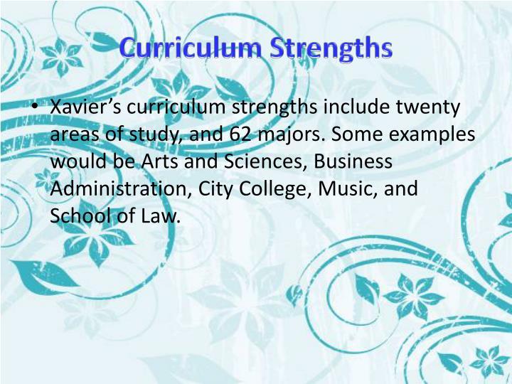 Curriculum Strengths