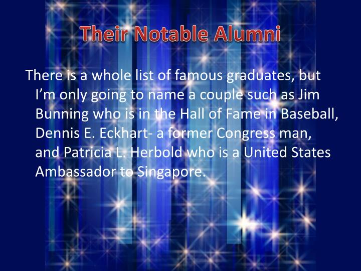 Their Notable Alumni