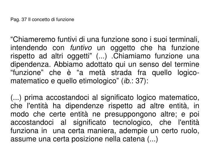 Pag. 37 Il concetto di funzione