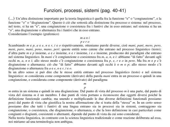 Funzioni, processi, sistemi (pag. 40-41)