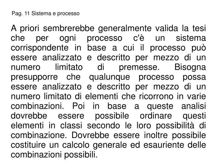 Pag. 11 Sistema e processo