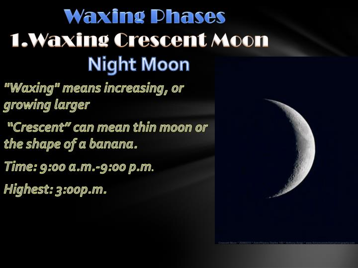 Waxing Phases