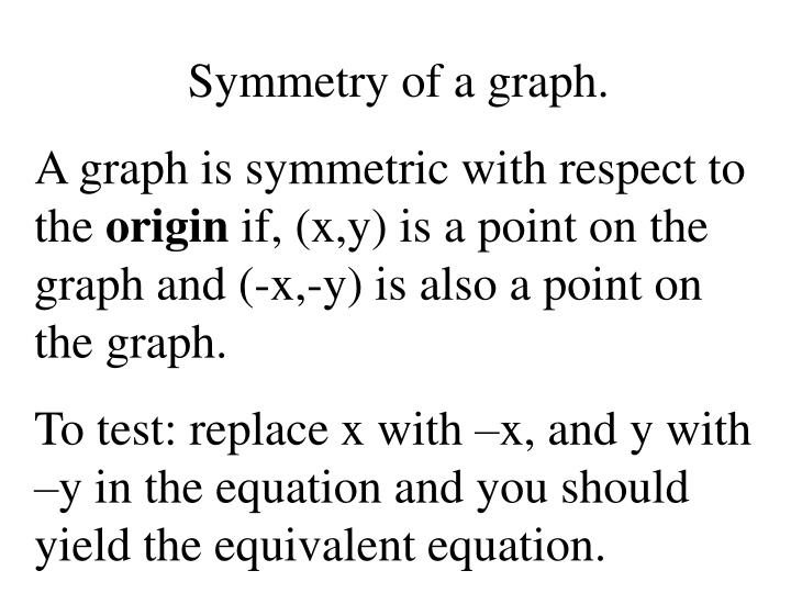 Symmetry of a graph.