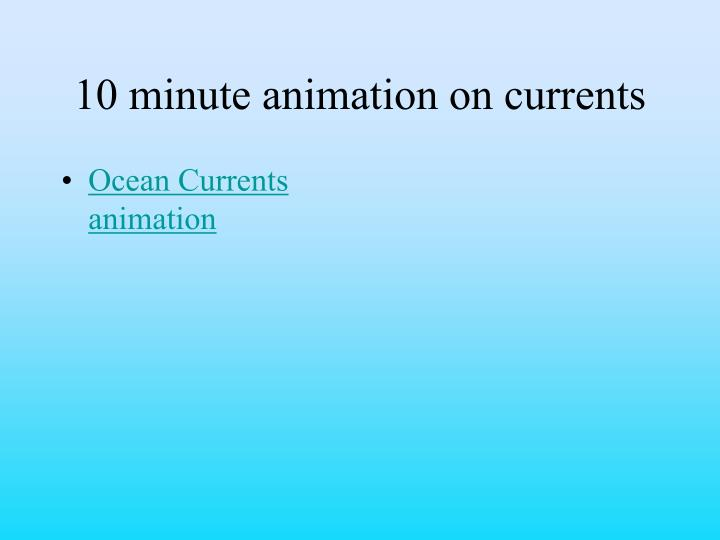 10 minute animation on currents