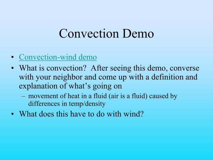Convection Demo