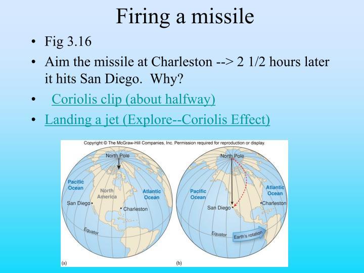 Firing a missile