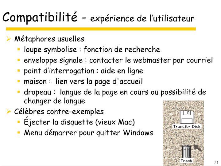 Compatibilité -