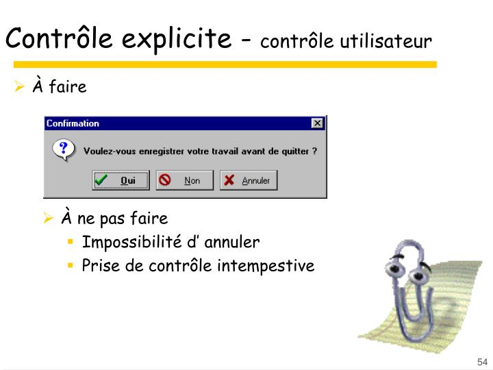 Contrôle explicite -