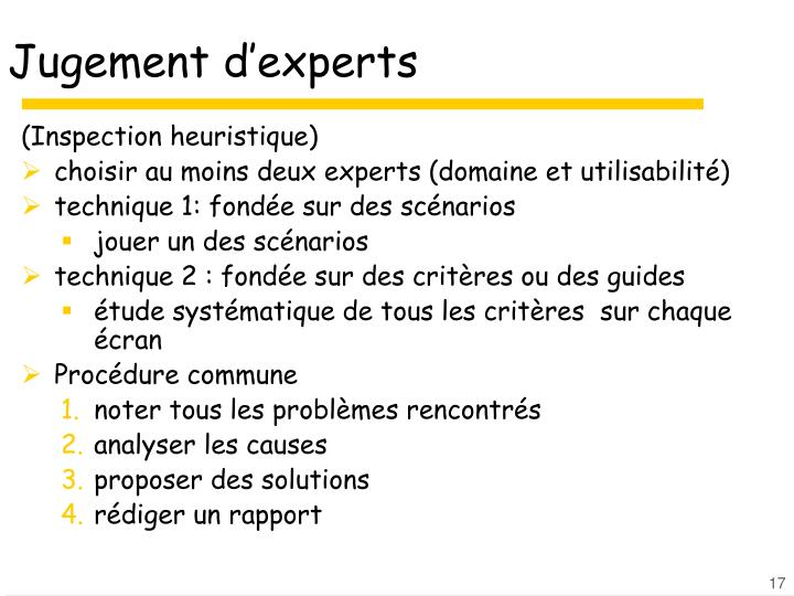 Jugement d'experts