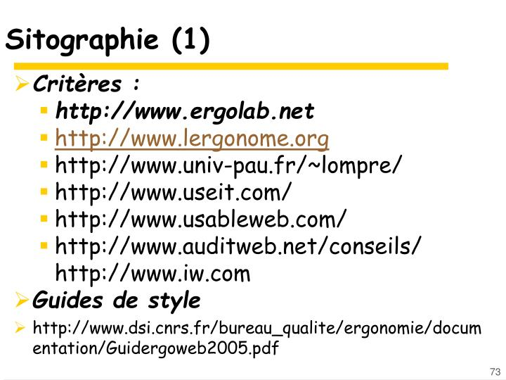 Sitographie (1)