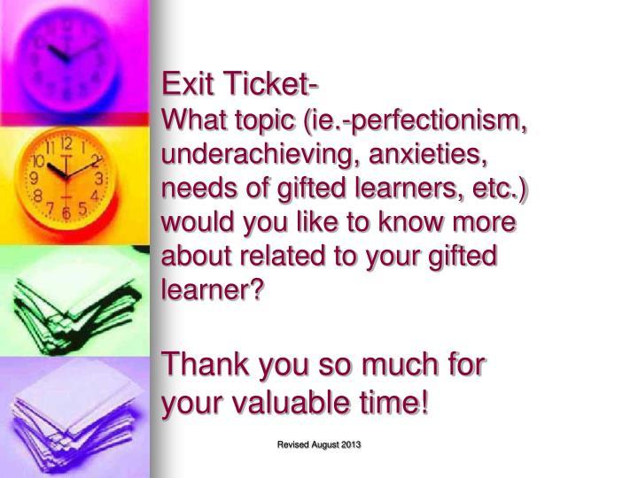 Exit Ticket-