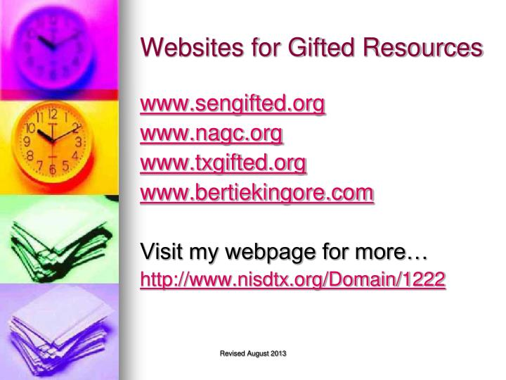 Websites for Gifted Resources