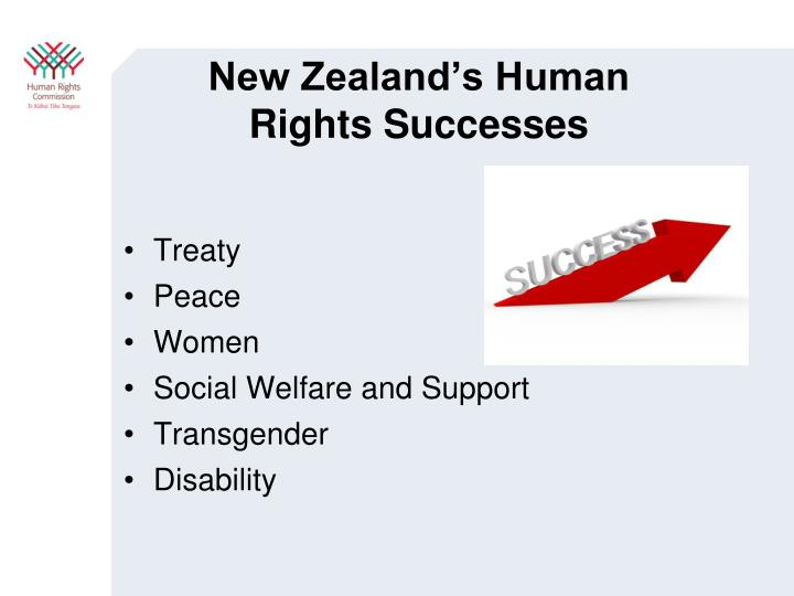 New Zealand's Human Rights Successes