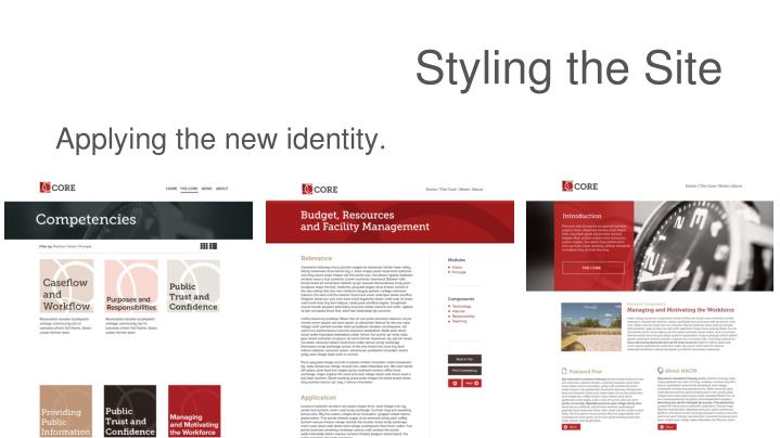 Styling the Site