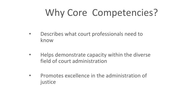 Why c ore competencies