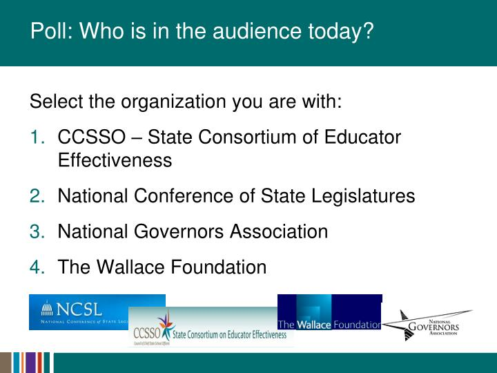 Poll: Who is in the audience today?