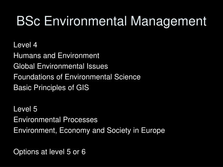 BSc Environmental Management