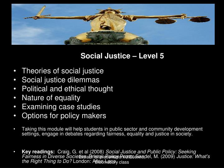 Social Justice – Level 5