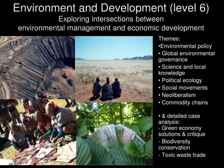 Environment and Development (level 6)