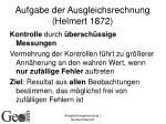 aufgabe der ausgleichsrechnung helmert 1872