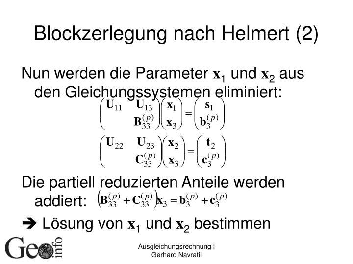 Blockzerlegung nach Helmert (2)