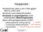 hauptprobe