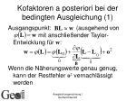 kofaktoren a posteriori bei der bedingten ausgleichung 1