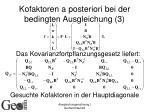 kofaktoren a posteriori bei der bedingten ausgleichung 3